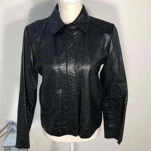 Banana Republic Black Leather Jacket Size  Small